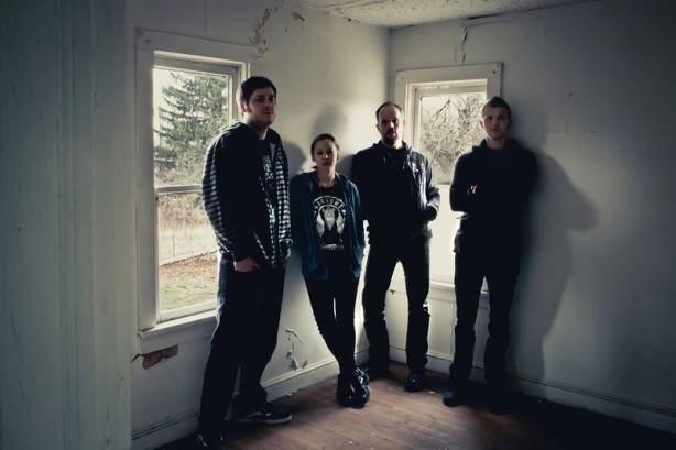From left to right: Matt Mellon-Bassist, Mers Sumida-Guitar/Vox, Ryan Flemming-Guitar, and Michael Kadnar-Drummer