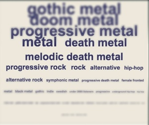 Metal alone has countless sub-genres.